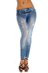 Legging sexy effet usé imitation jean's