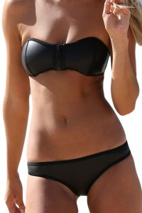 Bikini bandeau avec zip